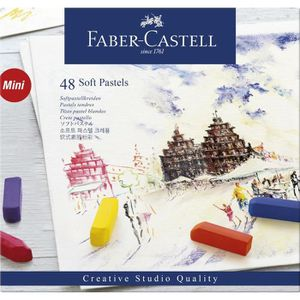 FABER-CASTELL Boîte 48 Demi Pastels Carrés Tendres