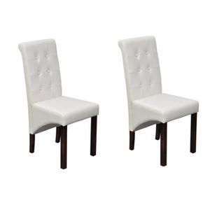 CHAISE Chaise capitonnée blanche (lot de 2)