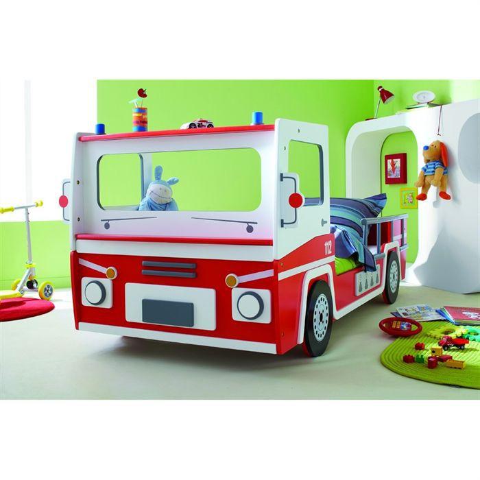 Lit pompier dekoration mode fashion - Lit enfant camion pompier ...