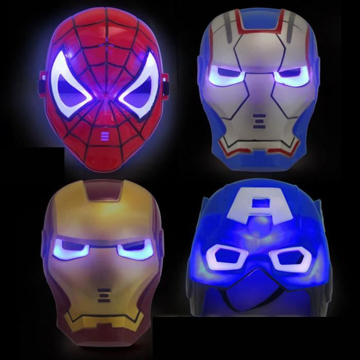 Masque facial lumineuse parti dessin anim cosplay enfants iron man achat vente masque - Iron man en dessin anime ...