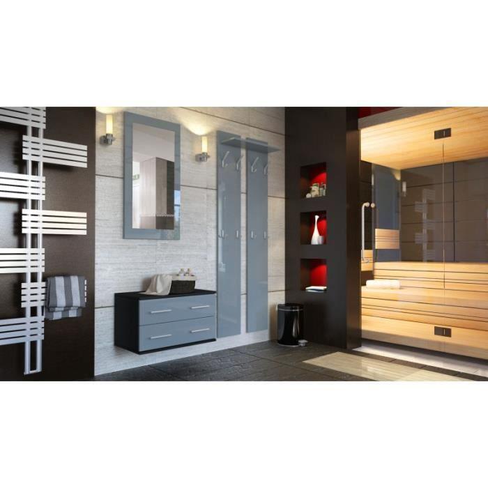 ensemble de meubles d 39 entr e noir et gris achat vente meuble d 39 entr e ensemble de meubles d. Black Bedroom Furniture Sets. Home Design Ideas