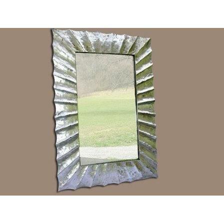 Miroir alicante en bois patin argent 70 x 100 achat for Miroir 60 x 100