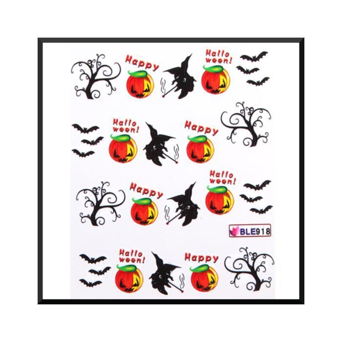 water decal pour ongles halloween ble918 achat vente stickers strass water decal pour. Black Bedroom Furniture Sets. Home Design Ideas