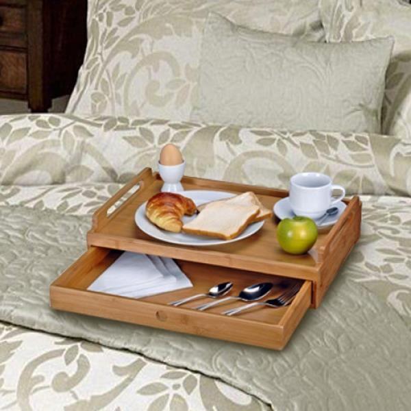 plateau bambou avec tiroir achat vente plat de service cdiscount. Black Bedroom Furniture Sets. Home Design Ideas