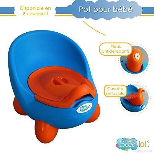 b b lol pot b b toilette b b aux couleurs vives coloris au choix bleu achat vente pot. Black Bedroom Furniture Sets. Home Design Ideas