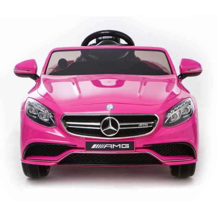 mercedes s63 amg voiture jouet lectrique pour enfant deux moteurs rose licence mercedes. Black Bedroom Furniture Sets. Home Design Ideas