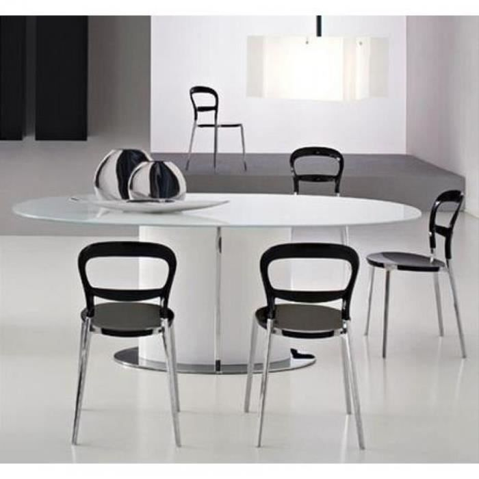table repas ovale extensible odyssey 165x105 bl achat vente table a manger seule table. Black Bedroom Furniture Sets. Home Design Ideas