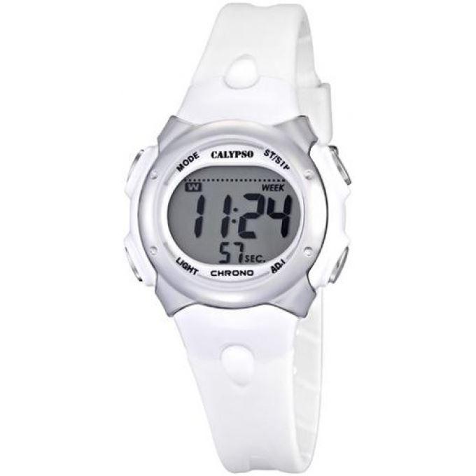 montre calypso k5609 1 montre chrono blanche sport achat vente montre cdiscount. Black Bedroom Furniture Sets. Home Design Ideas