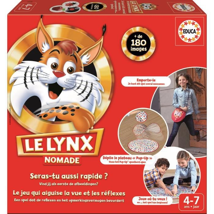 educa jeux ducatif le lynx nomade achat vente jeu soci t plateau cdiscount. Black Bedroom Furniture Sets. Home Design Ideas