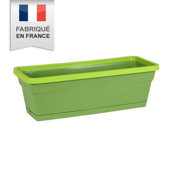 Jardini re style en pvc vert achat vente jardini re for Jardiniere avec treillis en pvc