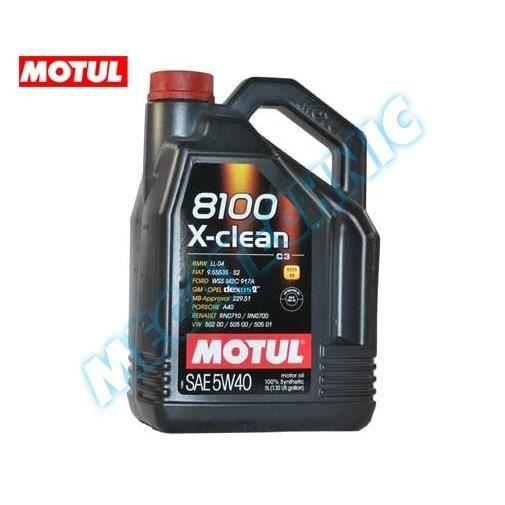 huile motul 8100 x clean 5w40 5 litres achat vente lubrifiant moteur huile motul 8100 x. Black Bedroom Furniture Sets. Home Design Ideas