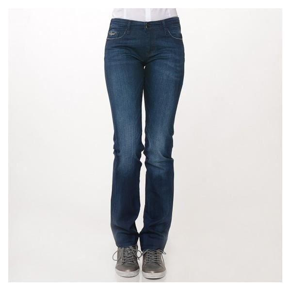jeans kaporal femme galea couleur bleu brut coupe droite taille normale 98 coton 2. Black Bedroom Furniture Sets. Home Design Ideas
