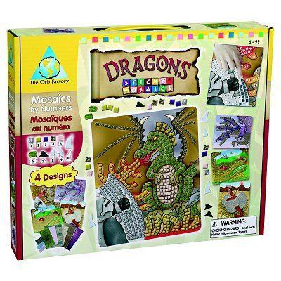 Mosaïque autocollante - Dragons - Achat / Vente jeu de ...