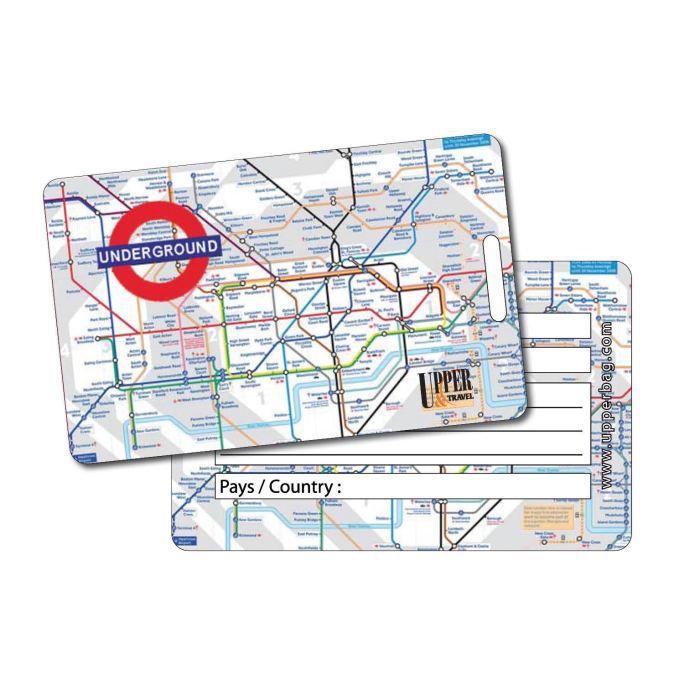 Etiquette bagage london map achat vente porte adresse for 1 porte etiquette de voyage