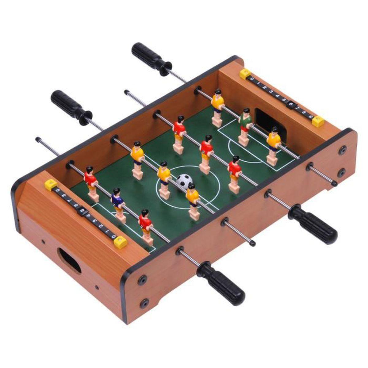 excelvan mini table football jeu de football 44 25 9. Black Bedroom Furniture Sets. Home Design Ideas