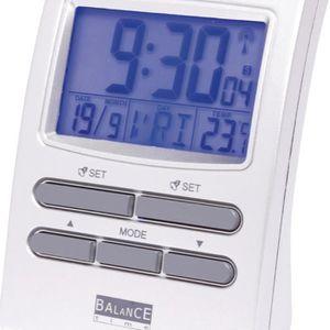 BALANCE 622415 Réveil radio contrôlé LCD couleur - Argent