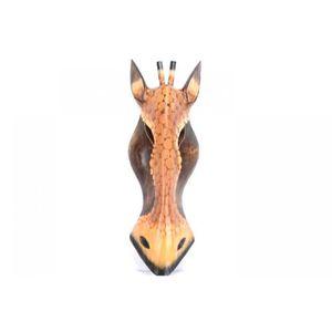 Masque girafe en bois h50cm decoration murale achat for Decoration murale bois sculpte