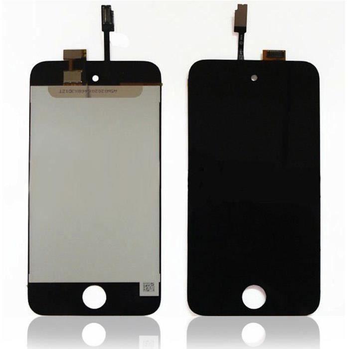 Pièce détachée ENSEMBLE ECRAN LCD + VITRE TACTILE IPOD TOUCH 4 NO