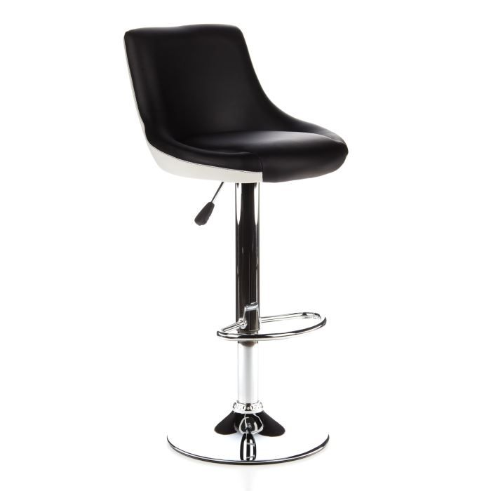 tabouret technique pivotant stady ii noir blanc achat vente tabouret de bar polyur thane. Black Bedroom Furniture Sets. Home Design Ideas