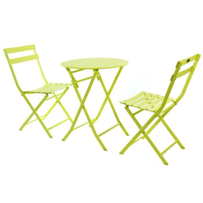 salon de jardin rond greensboro absinthe 2 places achat. Black Bedroom Furniture Sets. Home Design Ideas