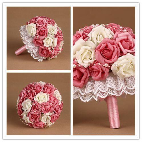 Bouquet fleur artificielle en dentelle orn des achat for Soldes fleurs artificielles