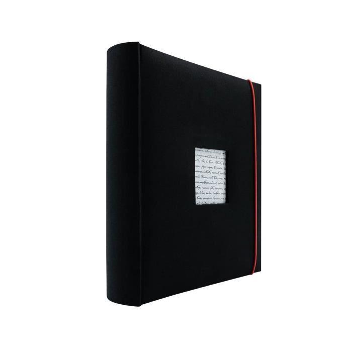panodia album photo traditionnel lin a noir 30x30 cm 60. Black Bedroom Furniture Sets. Home Design Ideas