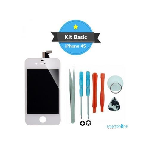 kit reparation ecran iphone 4 blanc achat nettoyage. Black Bedroom Furniture Sets. Home Design Ideas