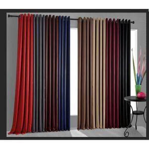 rideau de salon achat vente rideau de salon pas cher cdiscount. Black Bedroom Furniture Sets. Home Design Ideas