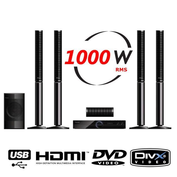 pioneer dcs 424 k home cin ma 5 1 dvd achat vente. Black Bedroom Furniture Sets. Home Design Ideas