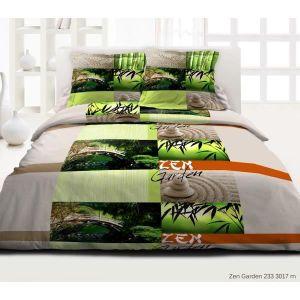 parure de lit zen achat vente parure de lit zen pas cher cdiscount. Black Bedroom Furniture Sets. Home Design Ideas