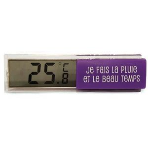 Thermom tre digital d 39 int rieur violet station m t o for Thermometre interieur pas cher