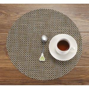 Set de table rond en pvc achat vente set de table rond - Set de table rond plastique ...