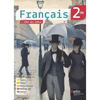 Français 2de livre unique L'écume des lettres - Achat ...