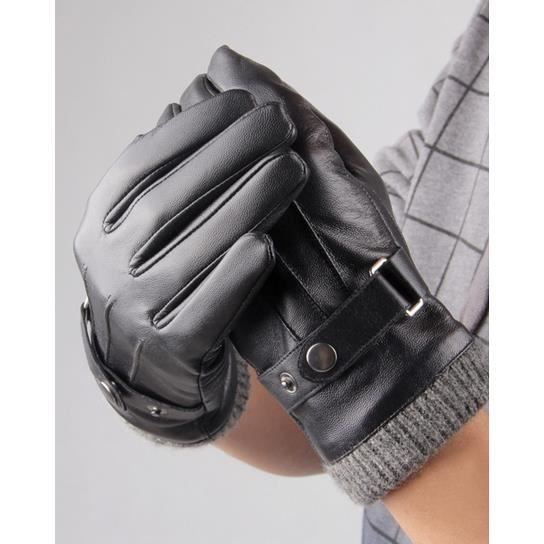 gants chauds de jeunes pour conduire noir achat vente. Black Bedroom Furniture Sets. Home Design Ideas