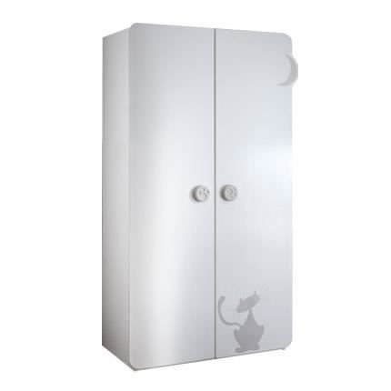 armoire 2 portes 2 tag res 1 penderie color achat vente armoire de chambre armoire 2. Black Bedroom Furniture Sets. Home Design Ideas
