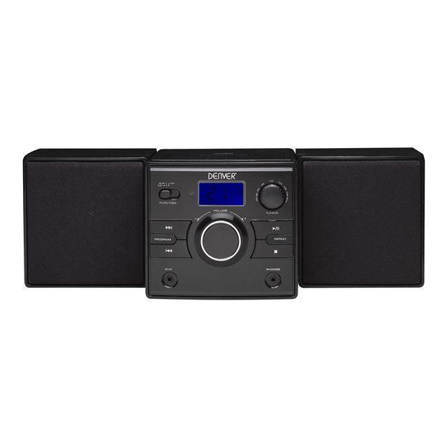 mini cha ne st r o lecteur cd radio aux noir chaine hi fi avis et prix pas cher cdiscount. Black Bedroom Furniture Sets. Home Design Ideas