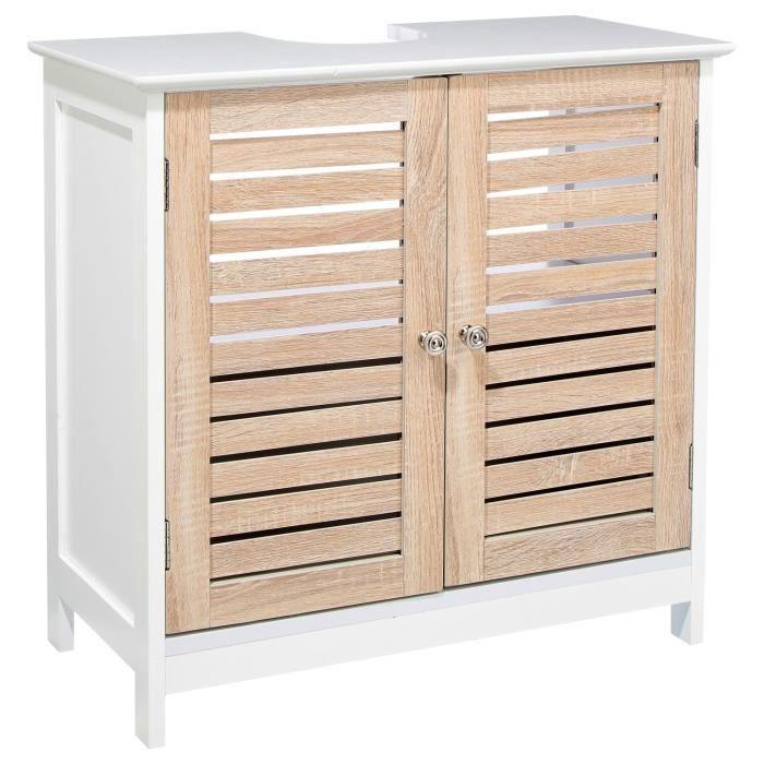 meuble dessous d 39 vier bois blanc achat vente meuble sous vier meuble dessous d 39 vier. Black Bedroom Furniture Sets. Home Design Ideas