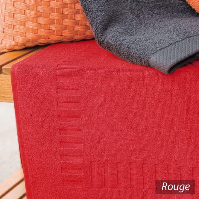 tapis de bain pure rouge ponge 50x70cm achat vente tapis de bain cdiscount. Black Bedroom Furniture Sets. Home Design Ideas