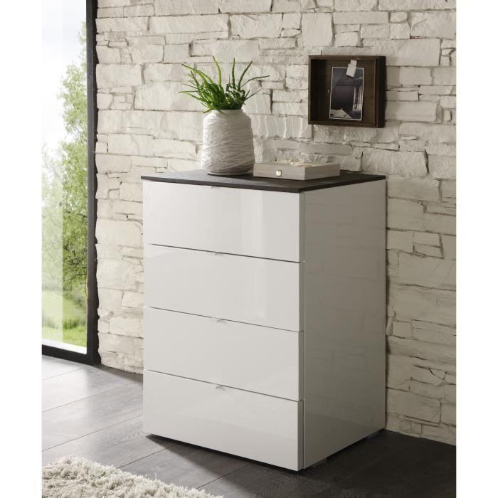 meubles rangement laque blanc