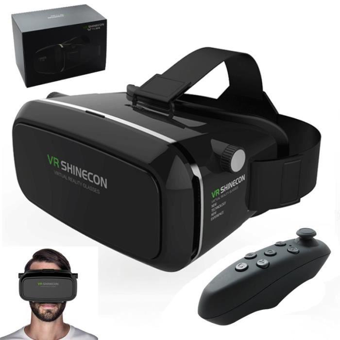 creative casque de r alit virtuelle vr shinecon noir pour iphone lunettes 3d avis et prix. Black Bedroom Furniture Sets. Home Design Ideas