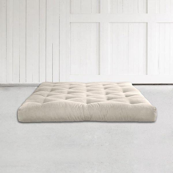Matelas futon coco 140x200 15cm achat vente futon for Matelas ressort 140x200