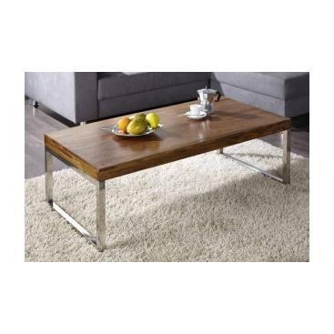 Table basse en bois et m tal mafalda achat vente table - Salon de sejour en bois ...