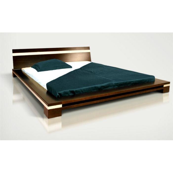 lit h tre massif 140x200 himalaya weng laqu achat vente structure de lit lit 140x200 weng. Black Bedroom Furniture Sets. Home Design Ideas