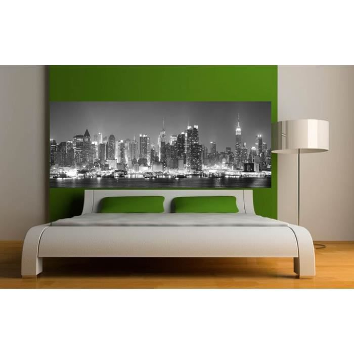 Stickers t te de lit d co chambre new york dime achat for Chambre new york deco