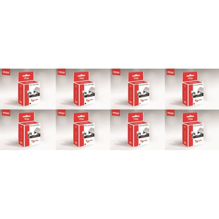 8 cartouches d 39 encre quivalent epson t054 prix pas cher cdiscount. Black Bedroom Furniture Sets. Home Design Ideas