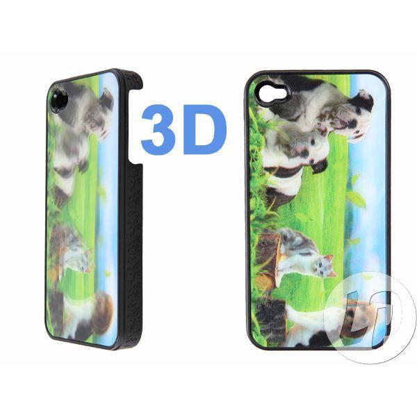 Lot de 2 coque pour iphone 4 3d chiens chat achat for Cuisine 3d pour iphone