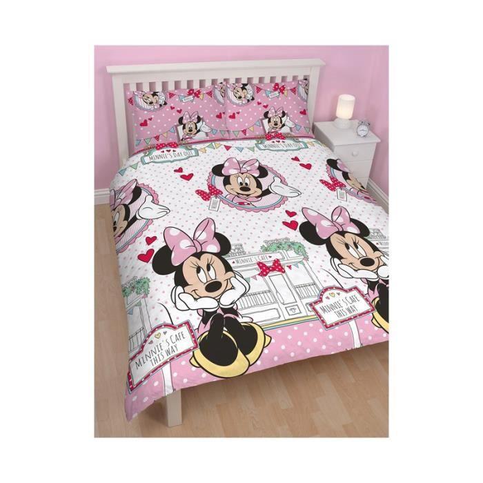 housse de couette 2 places minnie. Black Bedroom Furniture Sets. Home Design Ideas