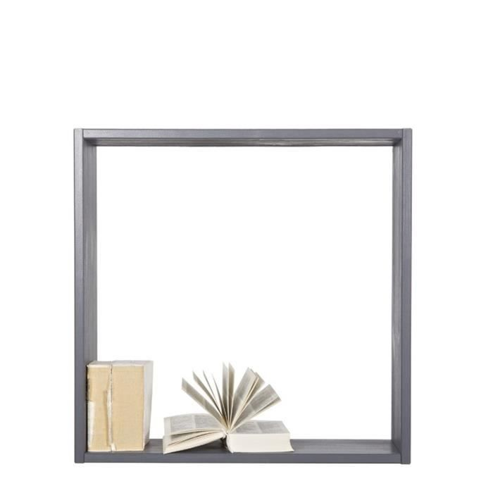 Cube ouvert tag re anthracite achat vente petit - Etagere murale gris anthracite ...