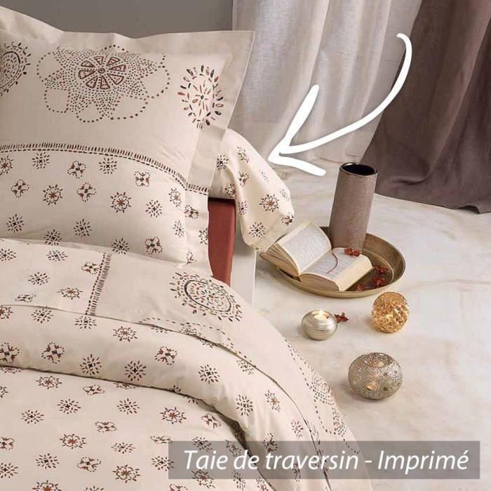 taie de traversin 240x43cm 100 coton atlas achat. Black Bedroom Furniture Sets. Home Design Ideas