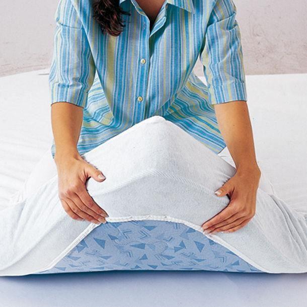 Protège matelas drap housse (160x200 cm) - Housse de matelas en coton ...